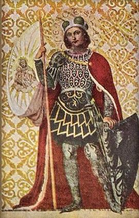 St.Wenceslas (Sv.Václav) -(Wencelaus I, Duke of Bohemia - the duke of Bohemia (921-935), saint and martyr, posthumously declared king, and the patron saint of the Czech state