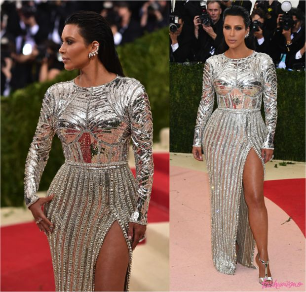 No Baile do Met 2016, Kim Kardashian ousoou na fantasia quase lúdica, mas bem poderosa e de acordo com o tema, gostam do look ou que venha 2017? Vote na...
