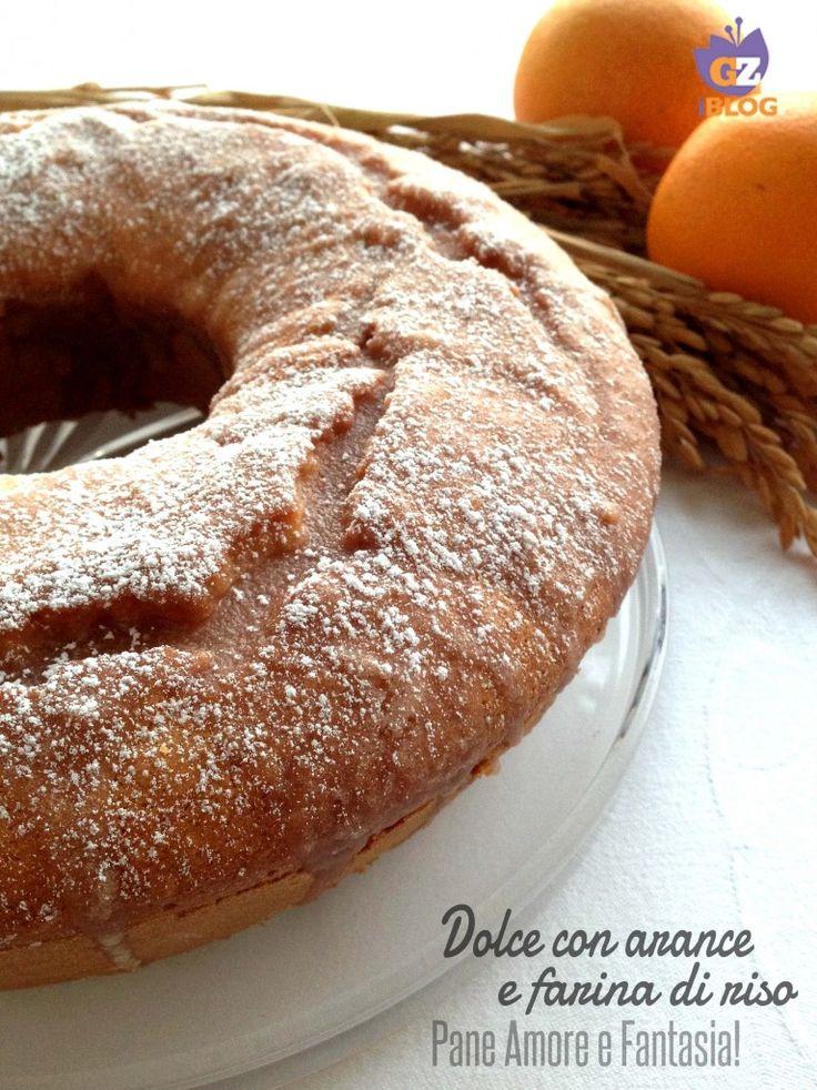 Questo dolce con arance e farina di riso è semplicemente divino: delicato ed estremamente soffice, è ideale anche per chi soffre di celiachia.