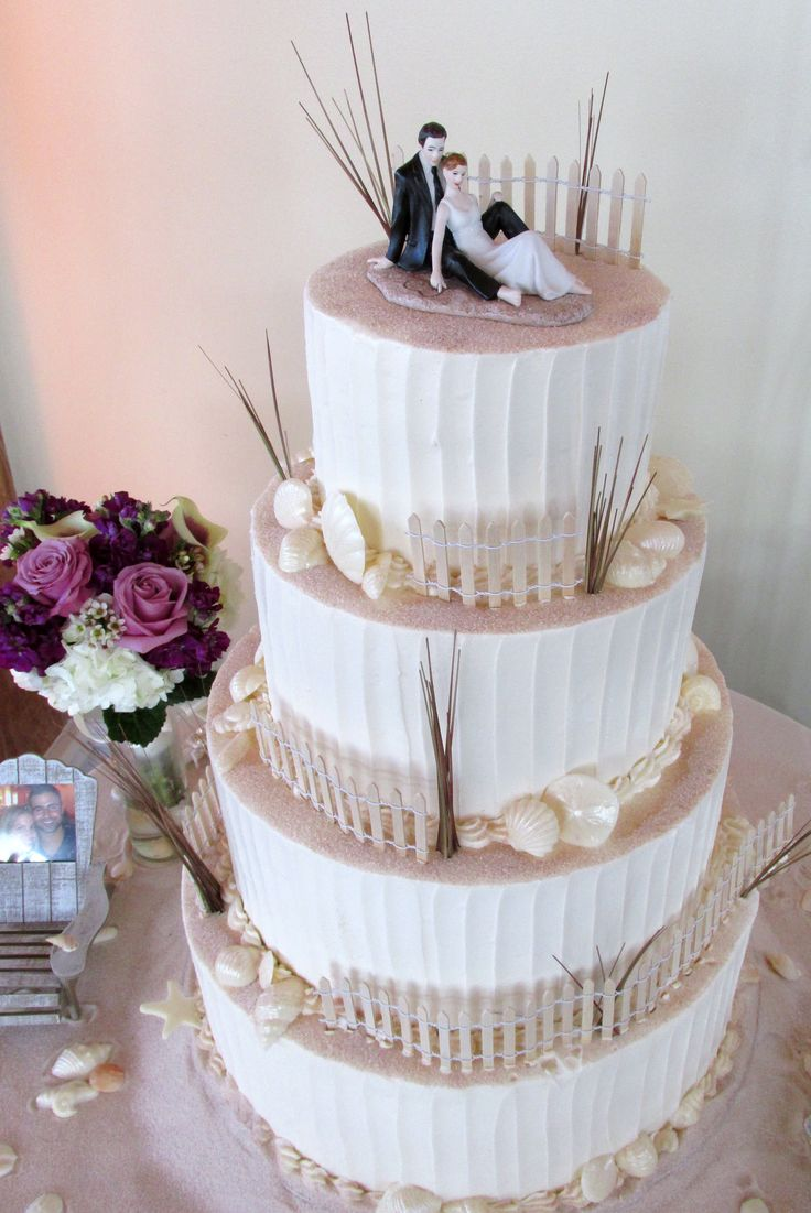 10 best wedding cake by the beach images on Pinterest | Cake wedding ...