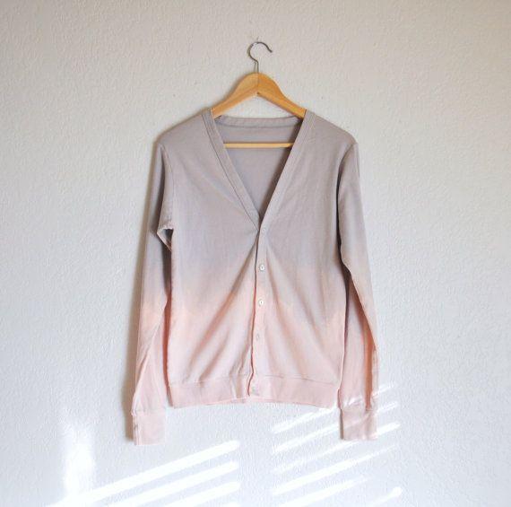Grau bis rosa Wüste Schatten Ombre Cardigan auf Etsy, 41,71€