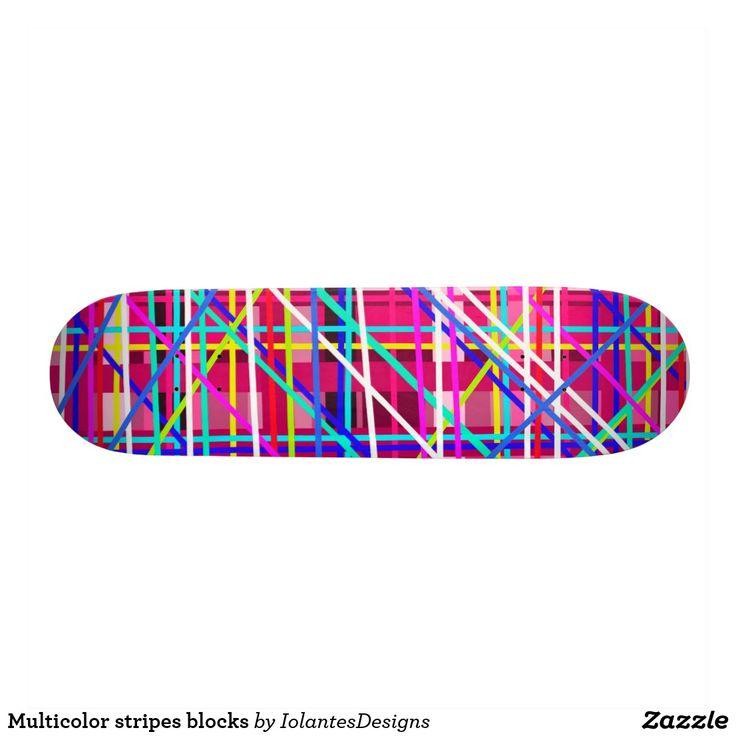 Multicolor stripes blocks
