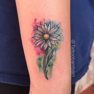 watercolor daisy tattoo - Google Search