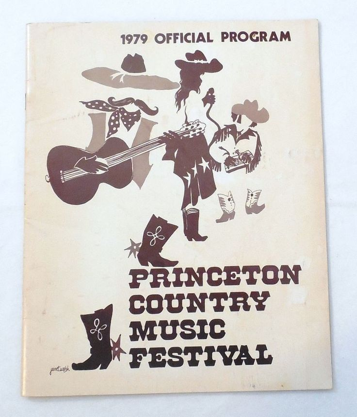 1979 Princeton (Country Jamboree) Country Music Festival Official Program