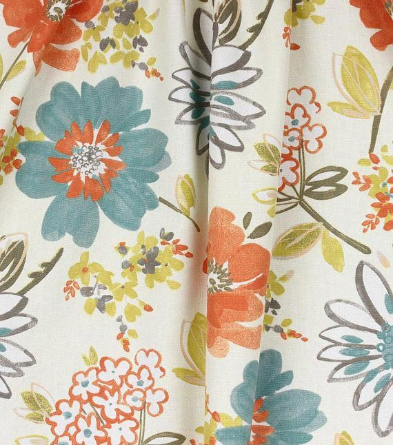 Floral Curtains Blue Orange And Gray Curtains Bedroom Curtains Blackout Curtains Living Room Curtains Homed Floral Curtains Fabric Decor Cool Curtains