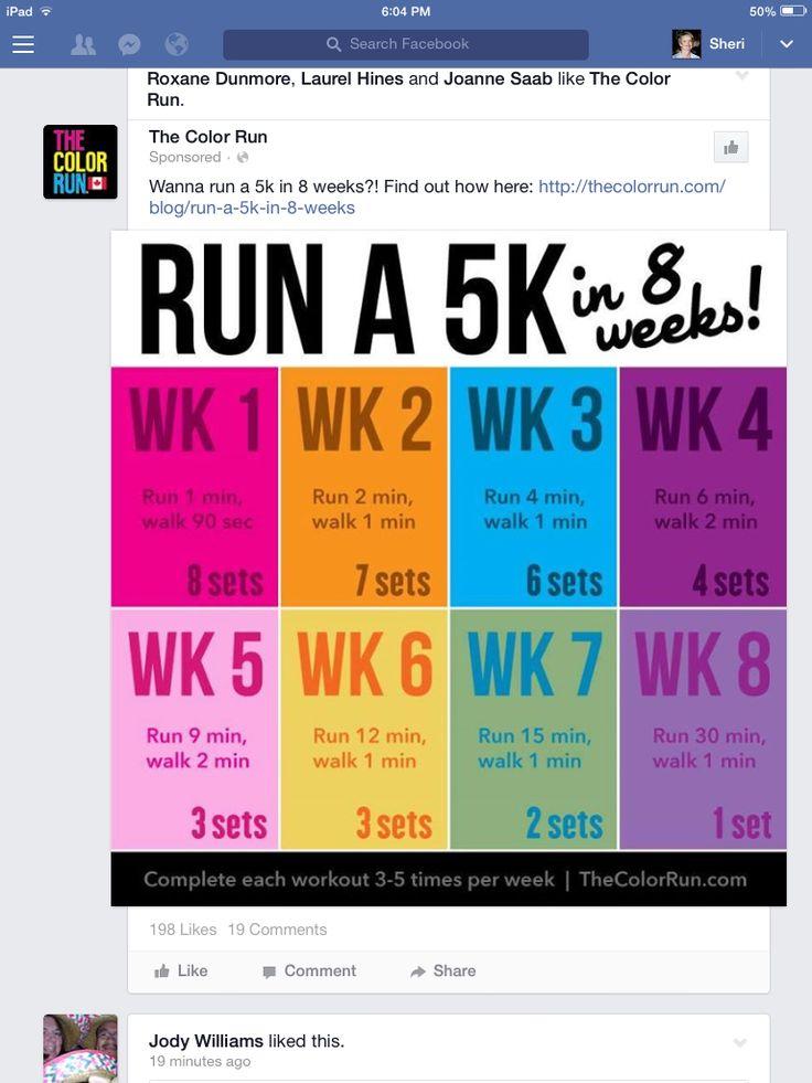 Run a 5 k in 8 weeks