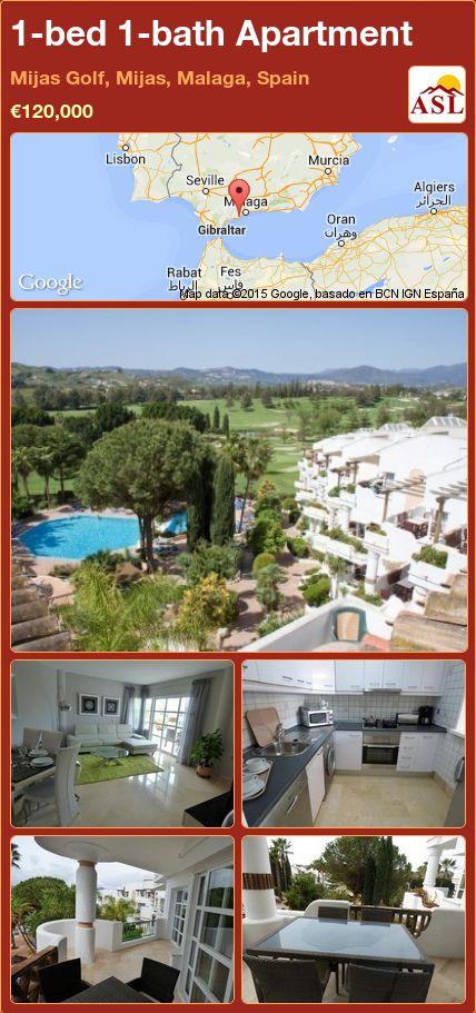 1-bed 1-bath Apartment in Mijas Golf, Mijas, Malaga, Spain ►€120,000 #PropertyForSaleInSpain