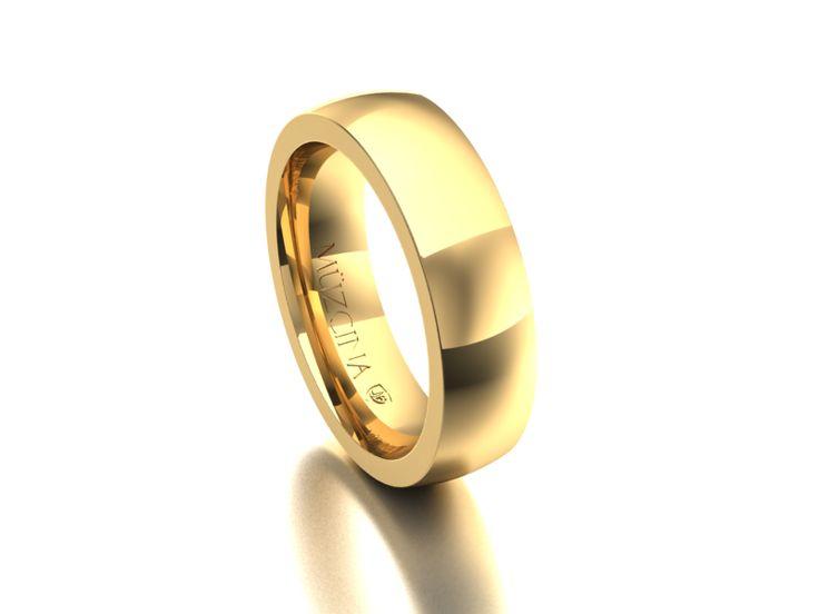MÜZCINA Collection by JJBückar - BX31-H-100-X-XX-XX-18Y-PX, High Polished Finish, 18K Yellow Gold, Men's, Wedding Rings, Wedding Bands, Designer, Luxury, Deluxe, Unique, Modern, Custom, Precision Machined