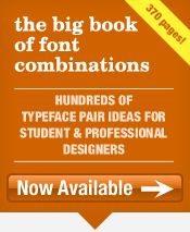 The Big Book of Font Combinations is an expansive collection of carefully crafted typeface pair samples. // The font pairings in BBOFC will inspire you and give you back time you need for your design projects. Use the font combination examples in your next project, However you use the BBOFC, it's bound to inspire and is a trustworthy companion to consult for all kinds of design projects and general study of typography. / designer must have