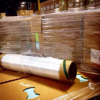 Stretch wrap is frequently used to unitize pallet loads, but it may also be used for bundling small items together.