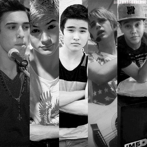 The boys of IM5: Gabriel Morales, Cole Pendery, William Jay, Dalton Rapattoni, and Dana Vaughns.
