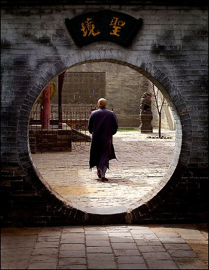 Huayan Temple, Datong, China --- someday, I will build myself a round doorway