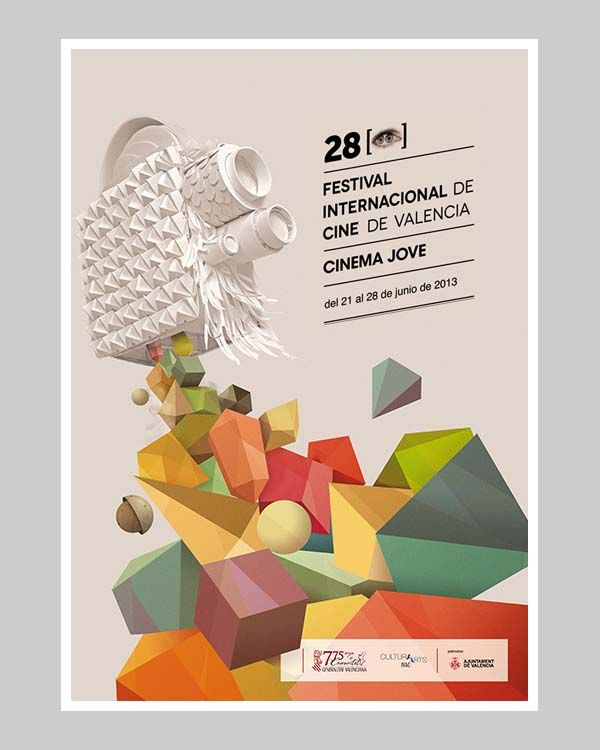 28th Cinema Jove Film Fest - Event Poster Design by Casmic Lab