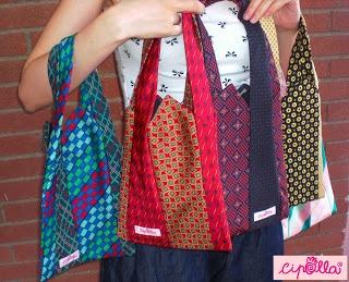 Cipolla: Borse realizzate con cravatte di seta