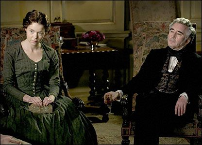 'Bleak House' by Charles Dickens starring Anna Maxwell Martin as Esther Summerson and Denis Lawson as the generous John Jarndyce, in love with Esther.