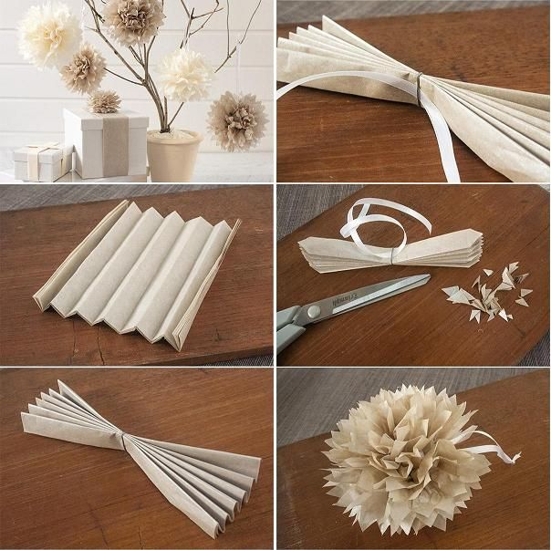 167 best images about flowers crepe tissue paper tuts for Decorative flowers for crafts