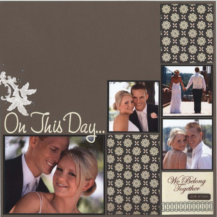 outlet online scrapbook wedding pages   Bing Images