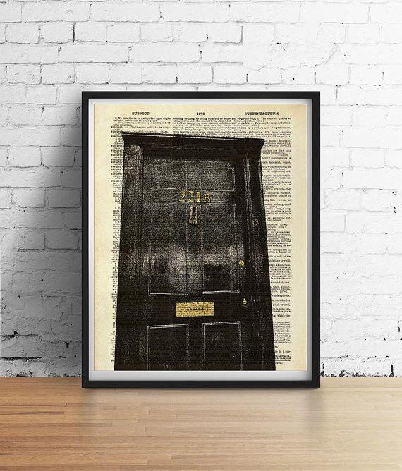 Sherlock 221B Baker Street Door Dictionary Art Print & 221B Baker Street Door Dictionary Art Print Pezcame.Com