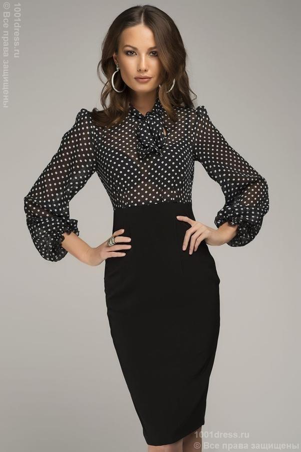 Модель: DM00227DP Цвет: черный/принт Ткань: трикотаж/шифон Покрой   Одежда для женщин