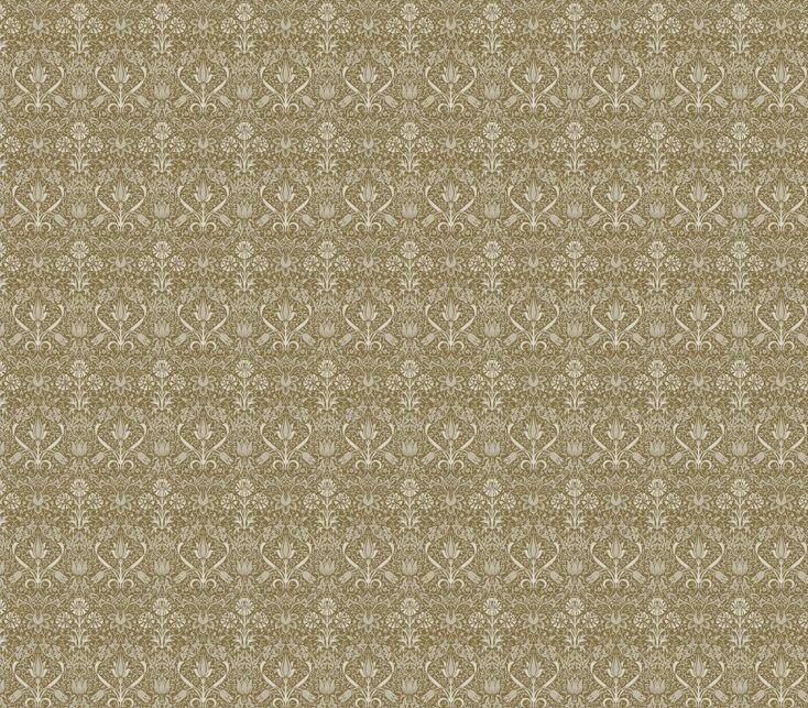 handbedrukt behang, ook in andere kleuren verkrijgbaar, met bijpassende verf…