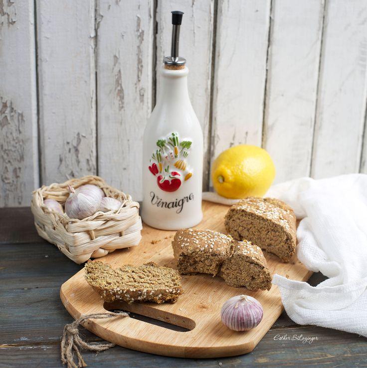 Полезный чесночный хлеб без дрожжей | Рецепты правильного питания - Эстер Слезингер