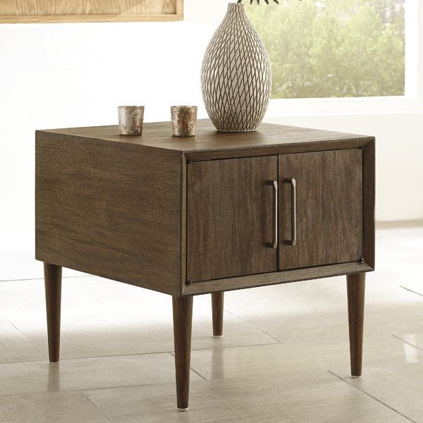 Napoleon End Table With Storage End Tables End Tables With Storage Furniture