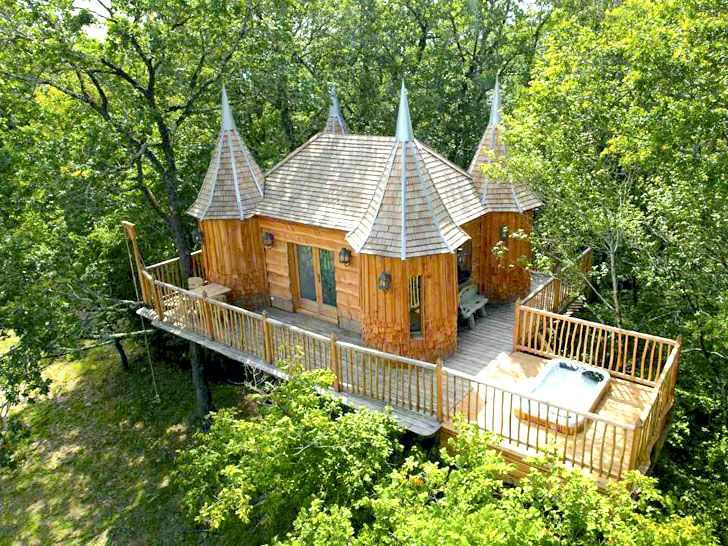 Fairytale Treehouse Castle in France Offers the Perfect Forest Getaway for All Ages | Inhabitat - Sustainable Design Innovation, Eco Architecture, Green Building