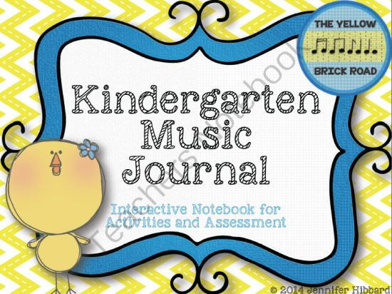 Kindergarten Music Journal: Interactive Journal for Activities and Assessment. This would be a great idea for all students to have as an assessment tool and to take home at the end of the year, just like an art portfolio...Older students could get a CD with recordings of their performances too... Too much money/work or worth it? ;)