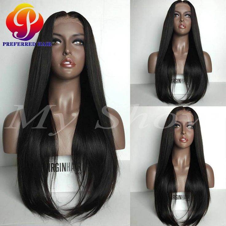 wig color on sale at reasonable prices, buy 150 Density Glueless Full Lace  Wigs Silky Straight Full Lace Human Hair Wigs With Baby Hair Brazilian Lace  Front ...