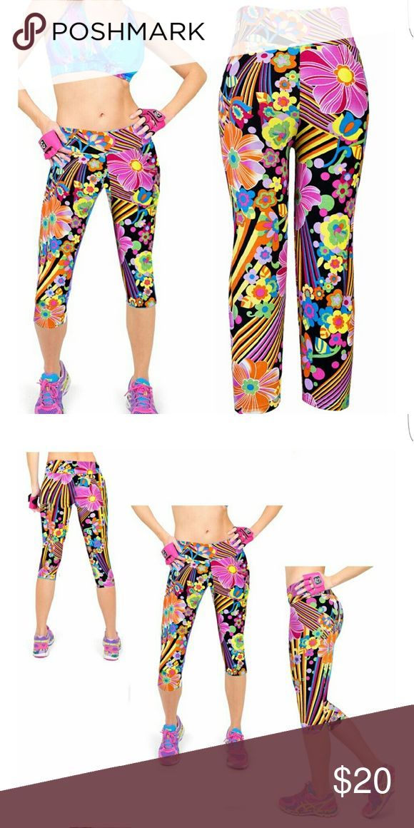 Stunning pink multi color gym leggings Brand new gym leggings. Very nice and amazing pattern Pants Leggings