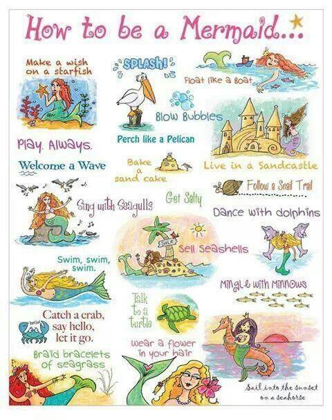 how to be a mermaid lol | Mermaid | Pinterest