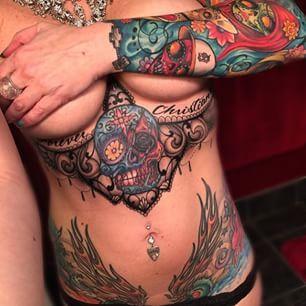 above boob tattoos