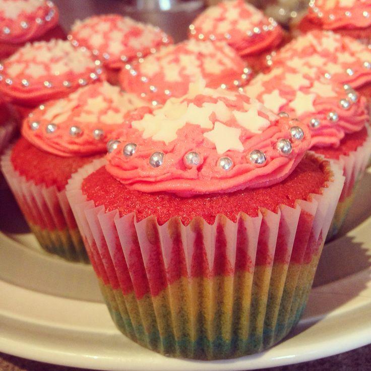 My Homemade Rainbow Cupcake I made today