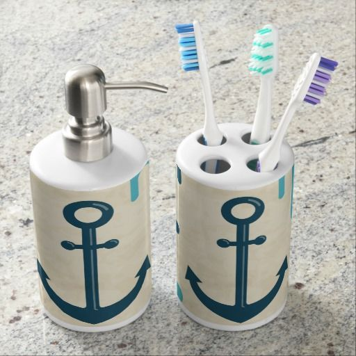 Nautical Abstract Anchor Bathroom Sets