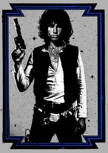 Jim Morrison as Hans Solo #jimmorrison #jimmorrisonart #jimmorrisonhumor #thedoors