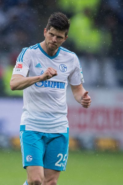 Klaas-Jan Huntelaar of Schalke reacts during the Bundesliga match between SC Freiburg and FC Schalke 04 at Schwarzwald-Stadion on May 7, 2017 in Freiburg im Breisgau, Germany.