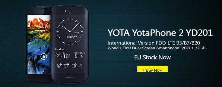 """http://shrsl.com/?e8wn : De Yotaphone 2 is de eerste Dual-Display Smartphone met een 5"""" AMOLED FullHD scherm én een 4.7"""" E-Ink display die altijd aan staat (en vrijwel geen stroom verbruikt!! NU leverbaar vanuit EU-warenhuis, dus geen extra douanekosten!! € 151 !!  Delen mag :-)  #Gadgets #Gadget #Smartphone #AMOLED #E-INK #Eink #Dual-Display #dual #display #novilty #tech #technology #new #mannen #vrouwen #men #woman #women #GadgetsFromChina"""