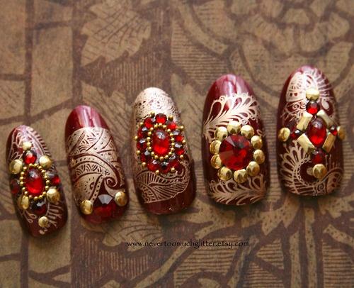 Best 25 indian nail art ideas on pinterest black dot nails indian style nail art nailart indianwedding prinsesfo Choice Image