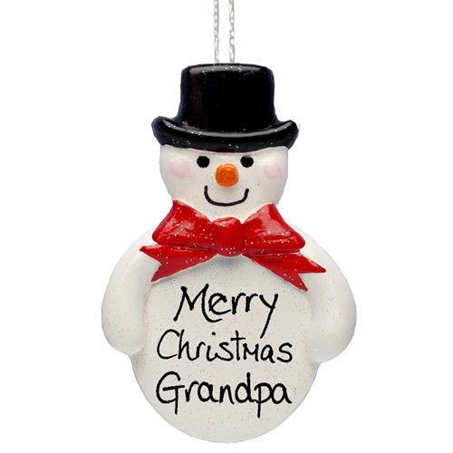 Personalised Handmade Traditional Snowman Ornament  from Personalised Gifts Shop - ONLY £9.99