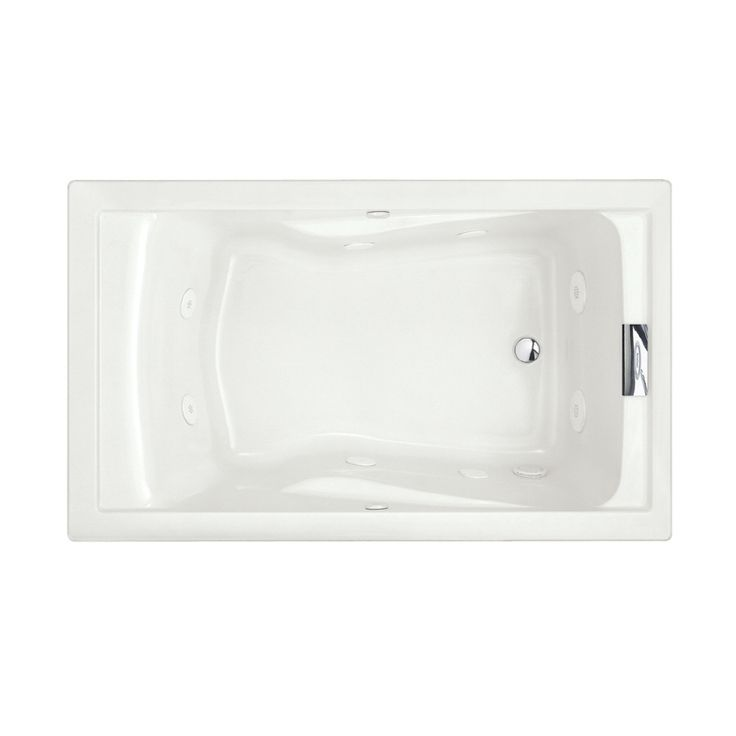 American Standard Evolution 60-in White Acrylic Drop-In Whirlpool Tub with Reversible Drain