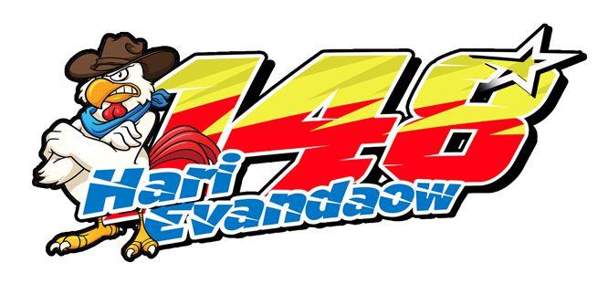 Stiker Ayam Racing by hari evandaow
