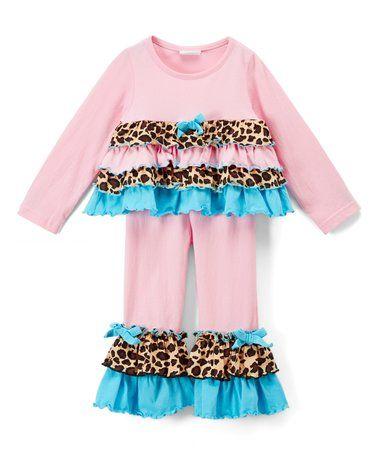 Look at this #zulilyfind! Pink Cheetah  Top & Leggings - Infant, Toddler & Girls #zulilyfinds