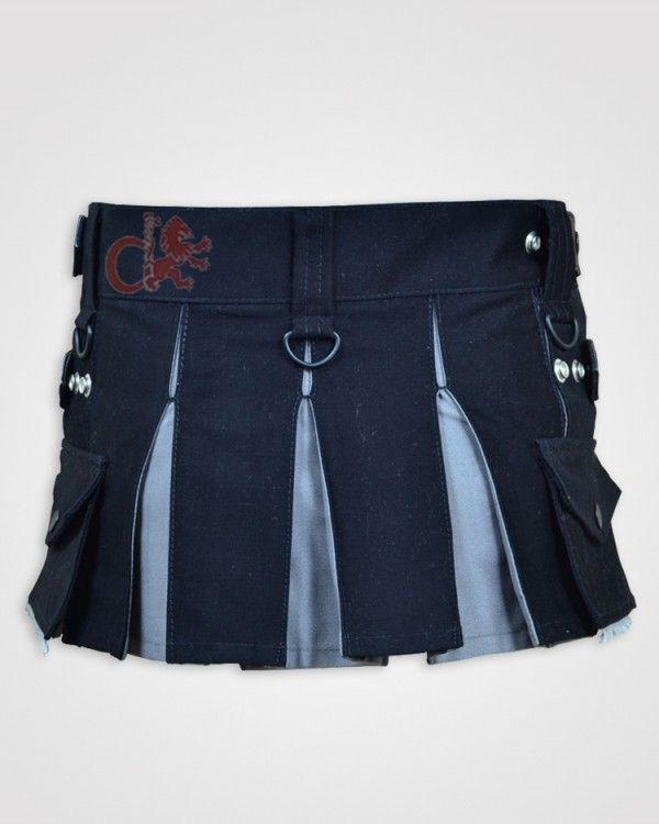 3c5f061e7a This Deluxe Black and Gray #Hybrid #Kilt for Girls/skirts is made just for  the ladies and can be worn for any casual occasion or even for work.