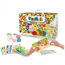 Bevochtig de PlayMais en plak deze in iedere willekeurige vorm aan elkaar. Zo kunnen unieke kunstwerken ontstaan. PlayMais bestaat uit maïs, water en voedingskleurstoffen en is tot 100 % biologisch afbreekbaar. Het product stimuleert en ontwikkelt de fijnmotoriek, ruimtelijk inzicht en creativiteit. Speelgoed PlayMais Fun-to-Learn kleuren en vormen -Fijne motoriek, -Creativiteit, -Zelfstandigheid, -Ruimtelijk inzicht