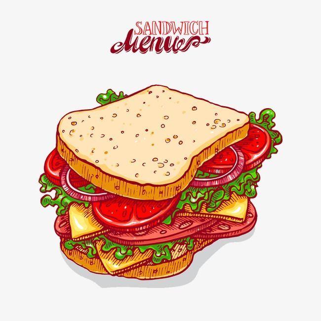 Pin By Hey Go On Comics Cartoon Sandwich Drawing Sandwiches Cartoon