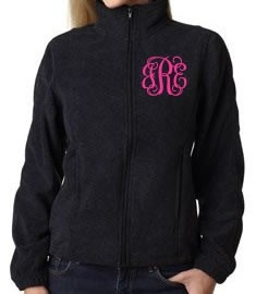 Monograms Fleece jackets and North faces on Pinterest