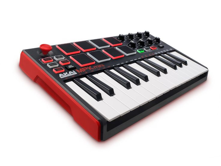 Akai Professional MPK Mini MKII | 25-Key Ultra-Portable USB MIDI Drum Pad & Keyboard Controller with Joystick