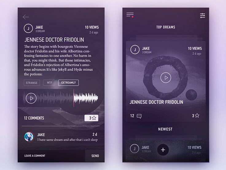 Shadow App Concept by Gleb Kuznetsov✈