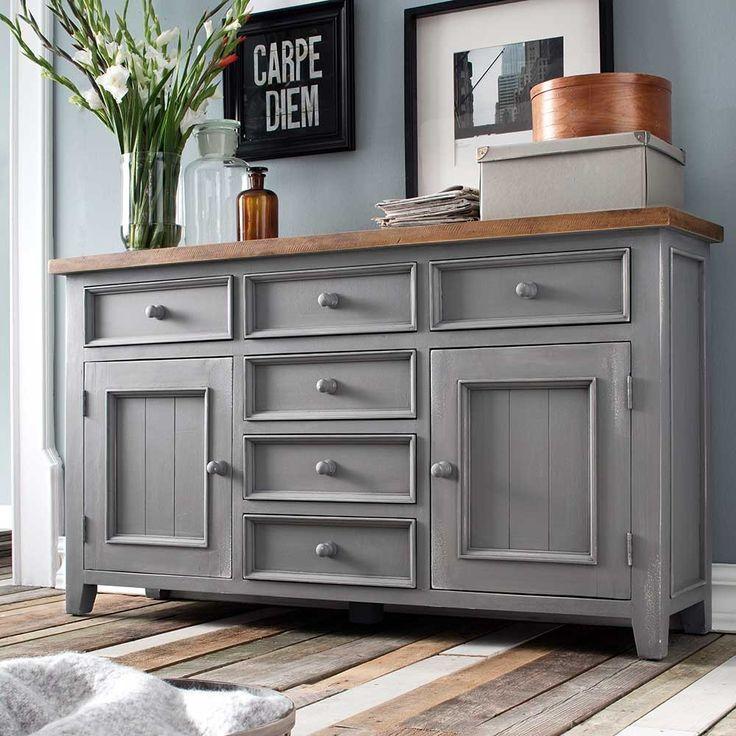 Schlafzimmer Sideboard Culesco In Grau Kiefer Im Landhausstil Genel Home Decor Home Furniture