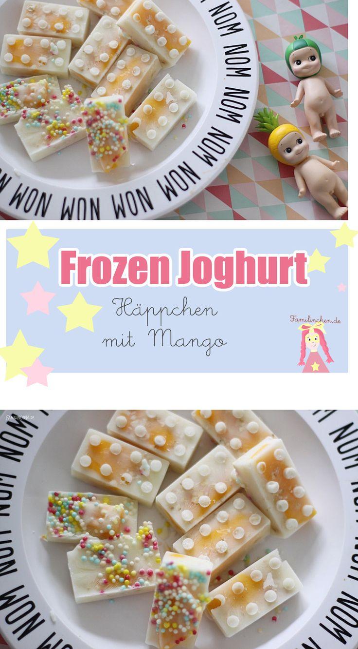 Leckerer Frozen Joghurt Snack für Kindergeburtstage, Frozen Joghurt Bites, Sommersnacks mit Mango #sommerrezepte #healthysnacks